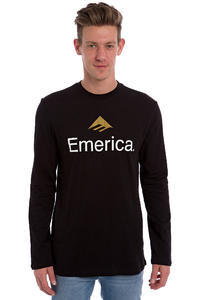 Emerica Skateboard Logo Longsleeve (black)