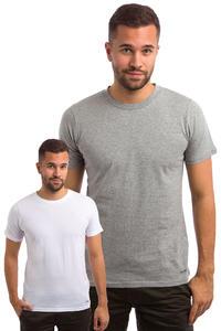Carhartt WIP Standard Crew Neck T-Shirt 2er Pack (white grey heather)