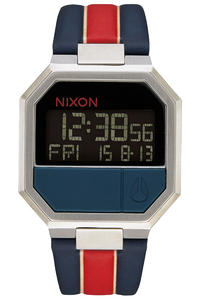 Nixon The Re-Run Leather Watch (white stripes)