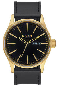 Nixon The Sentry Leather Uhr (gold black)