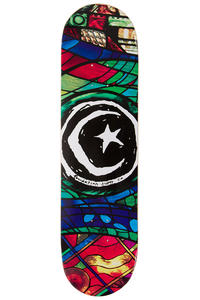 """Foundation Star & Moon Stained Glass 8.125"""" Deck (multi)"""