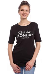 Cheap Monday Break Hot Logo T-Shirt women (moon black)