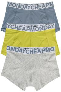 Cheap Monday Stretch Trunks Boxershorts (yellow greenish) 3er Pack