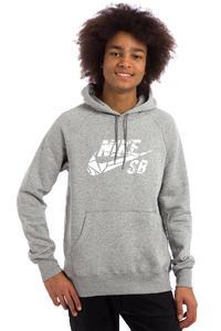 Nike SB Icon Griptape Hoodie (dark grey heather white)