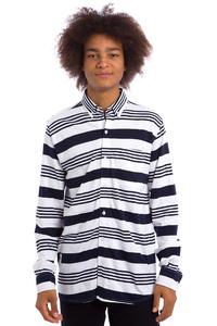 Wemoto Shaw Stripe Hemd (white navyblue)