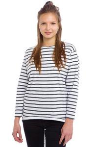 Wemoto Brighton Stripe Longsleeve women (white darkgrey melange)