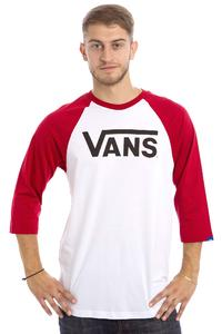 Vans Classic Raglan 3/4 Longsleeve (white cardinal black)