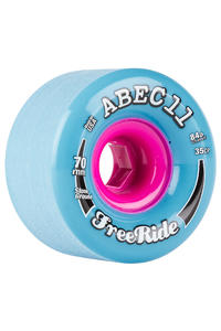 ABEC 11 Classic Freeride 70mm 84A Wheel (blue) 4 Pack