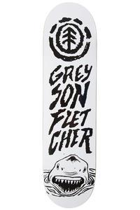 "Element Greyson Shark 8.125"" Deck (white black)"