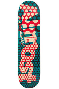"Almost Polka Dot Crunch 7.75"" Deck (teal red)"