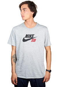 Nike SB Dri-FIT Icon Logo T-Shirt (dark grey heather)