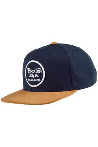 Brixton Wheeler Snapback Cap (navy copper)