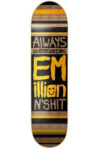 "EMillion Always Skateboarding 7.75"" Deck (black yellow)"
