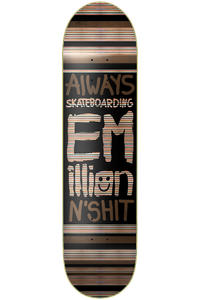 "EMillion Always Skateboarding 7.875"" Deck (black)"
