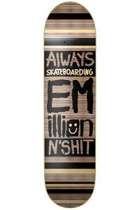 "EMillion Always Skateboarding 8.125"" Deck (black natural)"