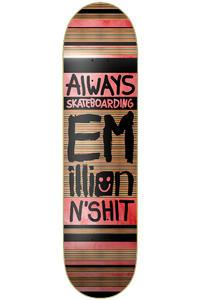 "EMillion Always Skateboarding 8.25"" Deck (black red)"
