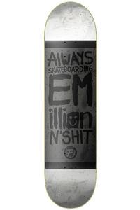 "EMillion Always Skateboarding Vintage Fibertech 7.875"" Deck (black white)"