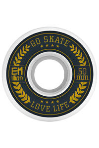 EMillion Go Skate Love Life 50mm Wheel (white) 4 Pack