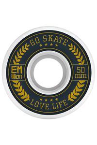 EMillion Go Skate Love Life 50mm Wheel (white) 4 Pack