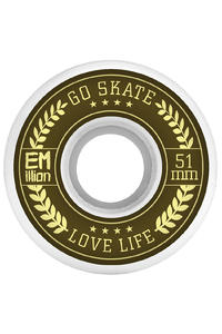 EMillion Go Skate Love Life 51mm Wheel (white) 4 Pack