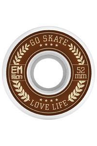 EMillion Go Skate Love Life 52mm Rollen (white) 4er Pack