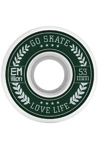 EMillion Go Skate Love Life 53mm Wheel (white) 4 Pack