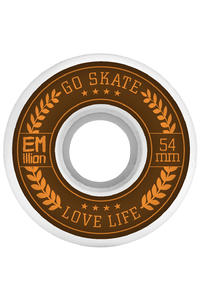 EMillion Go Skate Love Life 54mm Wheel (white) 4 Pack