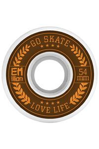 EMillion Go Skate Love Life 54mm Rollen (white) 4er Pack