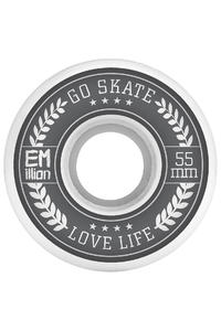EMillion Go Skate Love Life 55mm Wheel (white) 4 Pack