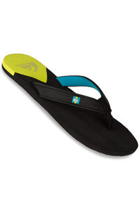 Quiksilver Molokai New Wave Deluxe Sandale (black yellow yellow)