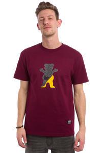 Grizzly Cutout Bear T-Shirt (burgundy)
