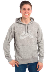 Nike SB Icon Pullover Stripe Hoodie (dark grey heather)