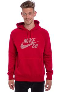 Nike SB Icon Pullover Stripe Hoodie (gym red)
