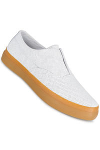 HUF Dylan Slip On Leather Shoe (white perf)