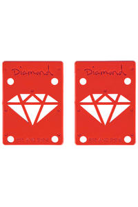 "Diamond 1/8"" Basic Riser Pad (red) 2er Pack"