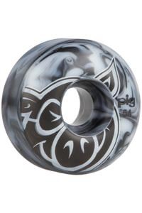 Pig Head Swirls 54mm Rollen (black white) 4er Pack