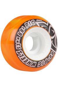 Pig Street Cruiser Swirl 53mm Rollen (yellow orange) 4er Pack