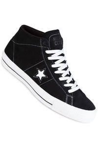 Converse CONS One Star Pro Mid Suede Shoe (black white black)
