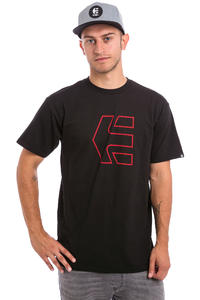 Etnies Icon Outline T-Shirt (black red)
