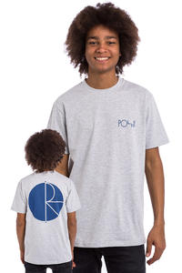 Polar Skateboards Fill Logo T-Shirt (heather grey)
