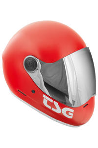 TSG Pass Solid Color Helm (satin fire red)