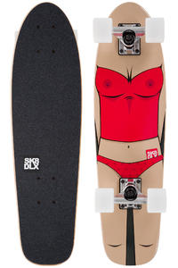 """SK8DLX Almost Naked 27"""" Cruiser (red white)"""