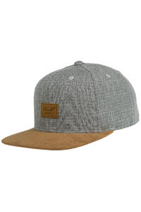 REELL Suede 6 Panel Cap (grey crosshatch)