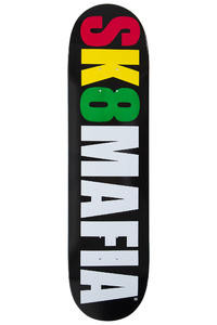 """Sk8Mafia OG Logo 8"""" Deck (black white rasta)"""