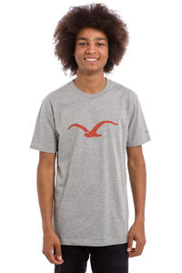 Cleptomanicx Möwe T-Shirt (heather grey roobios)