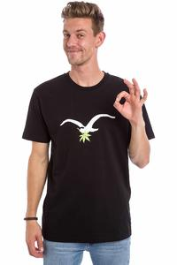 Cleptomanicx Leaf Möwe T-Shirt (black)