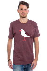 Cleptomanicx Gull T-Shirt (heather tawny port)