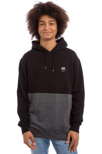 Cleptomanicx Fifty-Fifty Patch Hoodie (black)