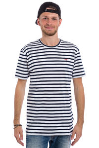 Cleptomanicx Classic Stripe T-Shirt (white)