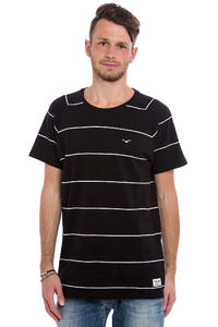 Cleptomanicx Piquet Stripe T-Shirt (black)